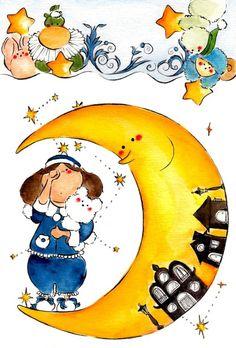illustration_ mai moroe moon night