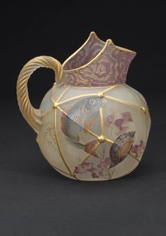 A Royal Flemish Art Glass pitcher, circa 1888 to 1895 from the Mt. Washington Glass Company, gaveled at 9,360.00. Check out this awesome WorthPoint article!