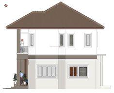 House Plan & Design — House Design Idea with 3 Bedrooms 1 Story House, Two Story House Design, House 2, Home Design Plans, Plan Design, Two Storey House Plans, Free House Plans, House Information, Villa