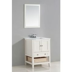 Image Gallery Website Shop for WYNDENHALL Belmont White door inch Bath Vanity Set with White
