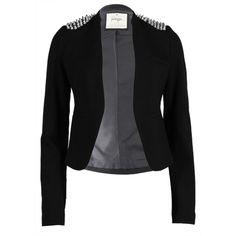 Stud Shoulder Jacket - Live Clothing ($105) ❤ liked on Polyvore