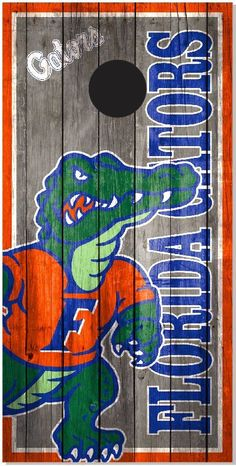 Florida Gators Wood Cornhole Boards Bag Toss Bago Tailgate Game With Bags