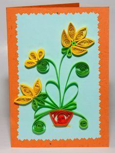 flower quilled card
