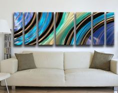 Modern Abstract Metal Wall Art Painting Sculpture HUGE! #Abstract