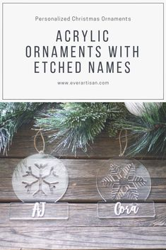 Simple yet unique laser cut acrylic Christmas tree ornaments for your tree or as gifts! Christmas Candles, Christmas Tree Ornaments, Christmas Decorations, Christmas Ideas, Laser Cut Acrylic, Cricut Creations, Winter Cards, Personalized Christmas Ornaments, Handmade Candles