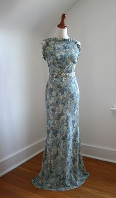'30s evening gown