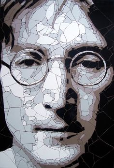 Ed creates intricate photo-realist portraits set against contrasting bold colour backdrops, forcing the viewer to question if his mosaics are, in fact paintings.