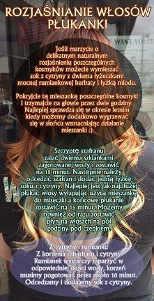 Zobacz zdjęcie Naturalne rozjaśnianie włosów, 3 przepisy :) (anwen.pl)