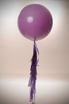 Purple Paradise Custom Creation Big Round Balloon Tassel Garland