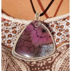 Sterling Silver pendant with Dragon Veins Agate