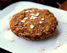 This pumpkin cookie is packed with protein and fiber making it a perfect breakfast or afternoon snack.