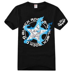 Anime Black Rock Shooter BRS T-Shirt Cotton Cosplay Costume Tee Shirts Valentine #Unbranded