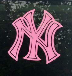 Yankees Pink decal New York die cut vinyl sticker car window bumper laptop decal   Sports Mem, Cards & Fan Shop, Fan Apparel & Souvenirs, Baseball-MLB   eBay!