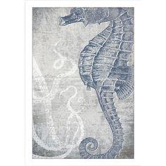 Big Fish // Sea Horse Wall Art 27 X 19