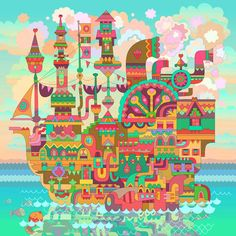 The Magical Ship of Freyr by Matt Lyon Painting Print on Wrapped Canvas