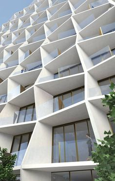 Sweetbird South Residences by Studio Gang  Studio Gang, the Chicago firm led by architect Jeanne Gang, has unveiled plans for a 14-storey apartment block in the Miami Design District, with a sculptural facade that will frame sea-facing balconies.
