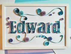 Letter Quilling    Part II