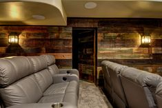 This basement remodel is industrial, modern, and chich for a unique finish cutomized for these homeowners. Including a home theater, bathroom and wet bar! Get your custom-designed basement remodel started with FBC Remodel today. Industrial Basement, Modern Industrial, Basement Inspiration, Ceiling Detail, Wet Bars, Basement Remodeling, Home Theater, Great Rooms, My House