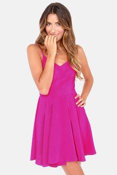 Oh Strap! Magenta Dress at LuLus.com!