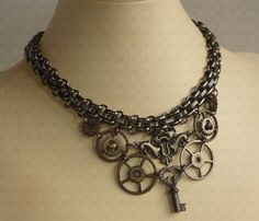 A must have necklace.. or must make... hmmm.  #jewelry #steampunk #accessory #love