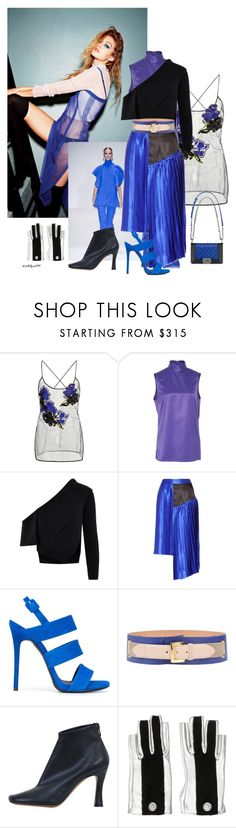 """""""Blue dream"""" by katelyn999 ❤ liked on Polyvore featuring Gucci, Versace, PALLAS, Burberry, Public School, Giuseppe Zanotti, Chanel, Moschino Cheap & Chic and CÉLINE"""