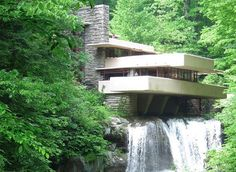 Falling Water - Mill Run, Pennsylvania-A little hard to find, but worth the drive into the countryside if you like Frank Lloyd Wright architecture. Amazing Architecture, Art And Architecture, Falling Water Frank Lloyd Wright, Falling Water House, All I Ever Wanted, Global Design, Inspired Homes, Great View, My Dream Home
