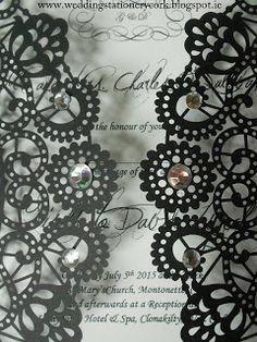 Wedding Stationery by Sinead Dineen: Laser Cut Invitations Laser Cut Invitation, Invitations, Wedding Stationery, Wedding Designs, Save The Date Invitations, Shower Invitation, Invitation, Wedding Invitations, Wedding Invitation