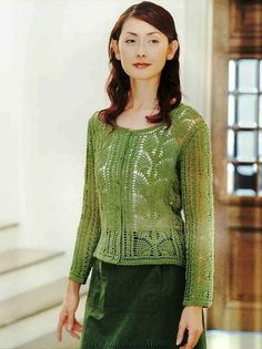 "JACKET with leaves FROM ""pineapple""      ♪ ♪ ... #inspiration_crochet #diy GB"