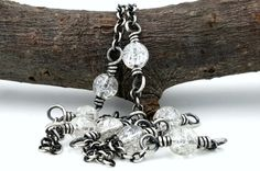 Bohemian Bride Necklace sterling silver wire wrap necklace