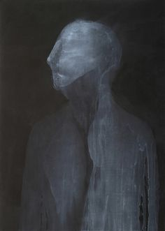 Untitled by Polish artist Marta Lech. Acrylic on paper, 55.1 x 39.4 in. via Saatchi