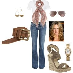 jennifer aniston inspired, created by cheywh07 on Polyvore