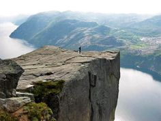 Fjords and the Preikestolen cliff, Norway