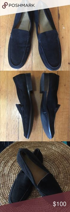 BALLY Suede Loafers In very good condition. Clean insoles & outsoles. Authentic Bally from Switzerland. All leather. Bally Shoes Flats & Loafers