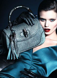Abbey Lee Kershaw for Gucci Fall/Winter 2013/2014 Campaign by Mert & Marcus | The Fashionography