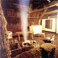 Interior of Turf House at Newtonmore