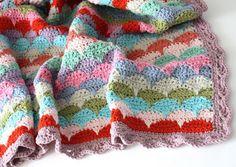 Clamshell Crochet Afghan | AllFreeCrochetAfghanPatterns.com