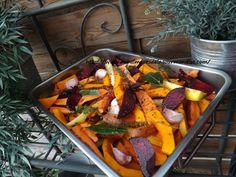 Légumes d'hiver rôtis et confits au four Quick Healthy Meals, Healthy Dinner Recipes, Food And Drink, Dessert, Table, Cooking Recipes, Gourds, Deserts, Postres