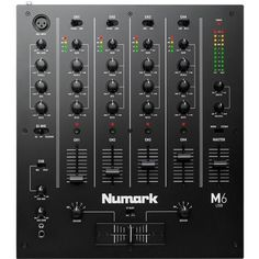 Numark 4-Channel USB DJ Mixer (M6USBBLACK) Music Mixer, Dj Pro, Usb, Dj Equipment, 4 Channel, Mixers, Software, House Music, Dance Music