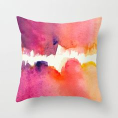 Abstract Watercolor Pillow with insert, Abstract Expressionist Watercolour Cushion, Watercolor Pillo Watercolor Fabric, Abstract Watercolor, Fabric Painting, Outdoor Throw Pillows, Decorative Throw Pillows, Diy Pillow Covers, Diy Arts And Crafts, Diy Crafts, Handmade