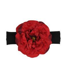 Rózsás hajpánt: www.milibaby.hu RuffleButts Red Aubrey Headband #gyerekruha #babaruha