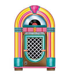 jukeboxes from the 50s history | Jukebox Cutout 3' Prop