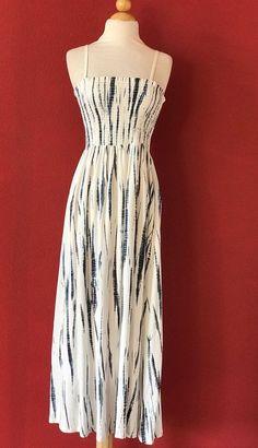 SOFT SURROUNDINGS Tie Dye Smocked Maxi Dress Size PL L PETITE #SoftSurroundings #Maxi #Casual