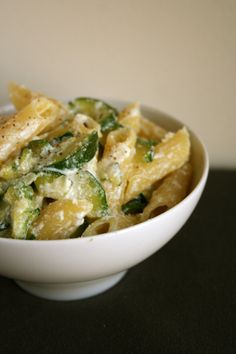 Penne with Zucchini and Ricotta Recipe - All Things Katie Marie