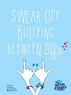 """I am going to promote the """"blue pinky promise"""" at my middle school through my amazing counseling program! Swear off bullying! Paint your pinkie blue and promise to be nice to others! I challenge YOU! Teen Bullying, Anti Bullying Week, Bullying Lessons, Stop Bullying, Middle School Classroom, School Fun, School Stuff, Anti Bullying Programs, Peace Education"""