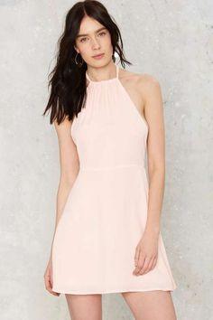 Tara Halter Mini Dress - Pink - What's New