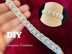 Beaded Bracelets Tutorial, Diy Bracelets Easy, Beaded Bracelet Patterns, Dainty Bracelets, Handmade Bracelets, Colorful Bracelets, Bead Jewellery, Creations, Simple Diy