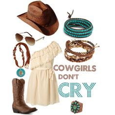 COWGIRLS DON'T CRY, created on Polyvore