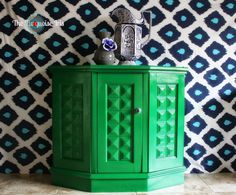 The Turquoise Iris ~ Vintage Modern Hand Painted Furniture: My Week in Makeovers