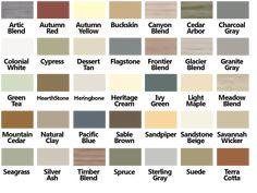 Certainteed Vinyl Siding Color Chart
