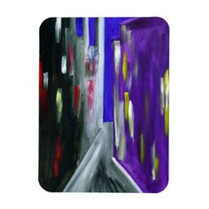 #Colorful Modern Abstract Urban City Magnet - #modern #cool